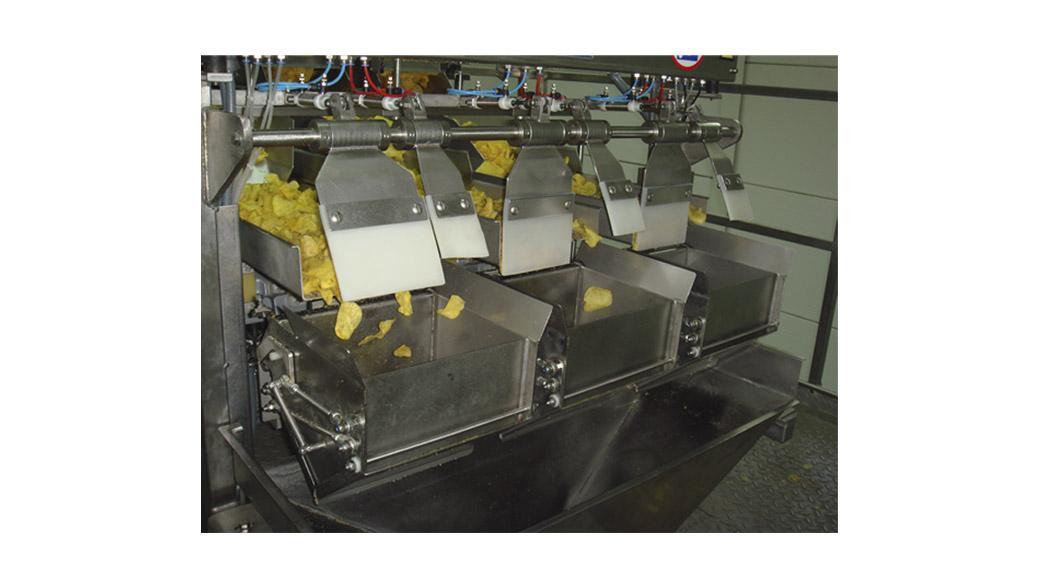 grupo de pesado triple-cestillas