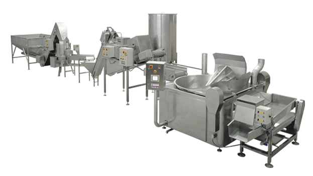 Maquinaria fabricación patatas fritas por tandas