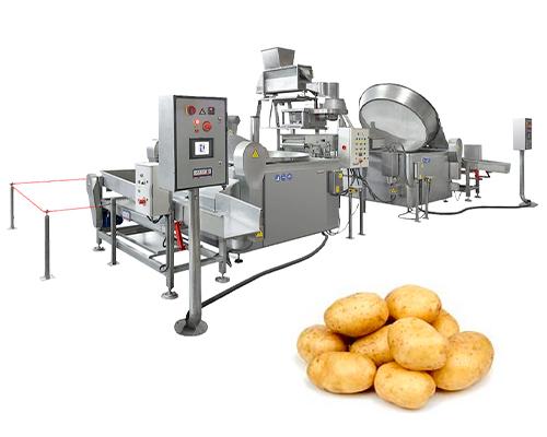 Maquinaria producción patatas chips